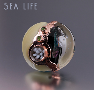 Sea Life Electroformed Focal Pendant